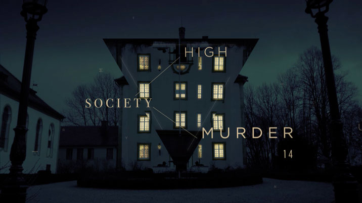 High Society Murder – Title treatment creation